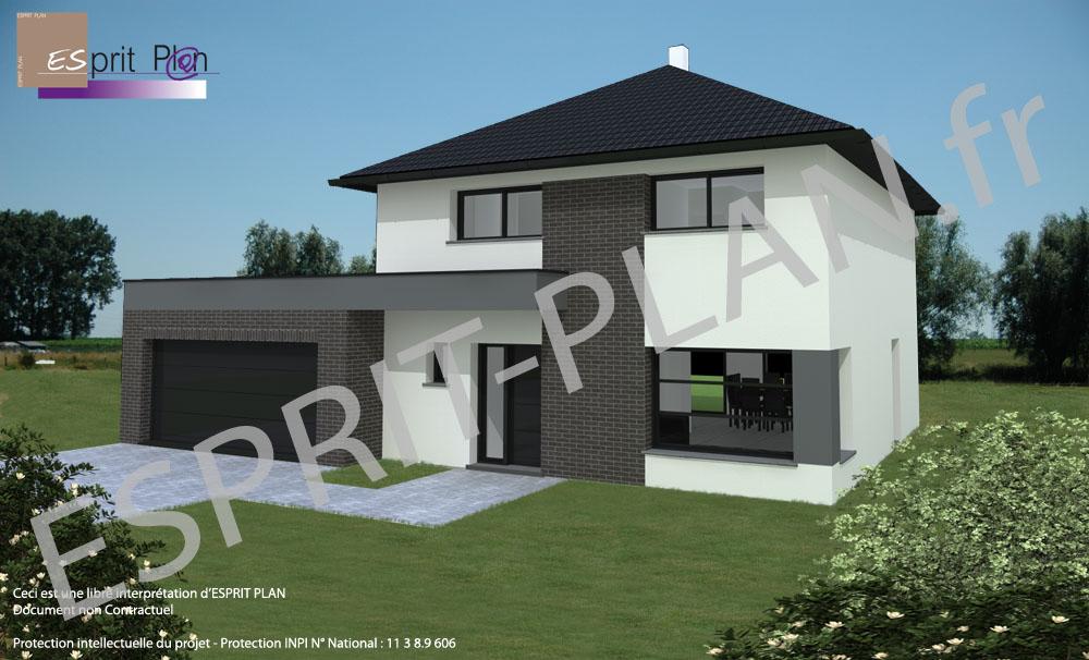 Avant projet maison extensions renovations sur arras lille et nord pas de calais modele - Maison passive design ...