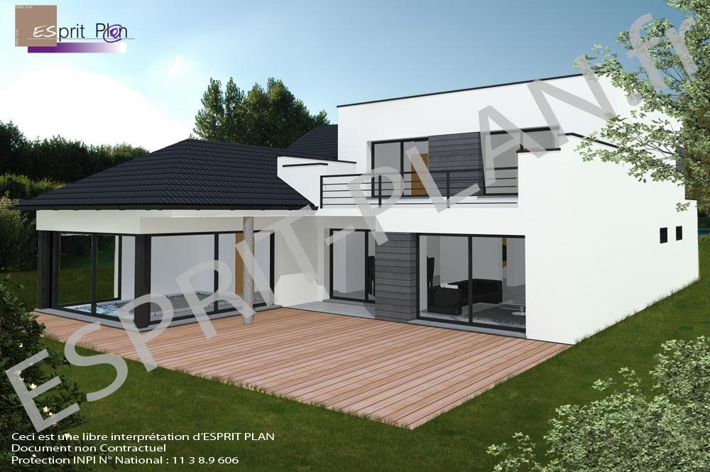 plan maison en hauteur. Black Bedroom Furniture Sets. Home Design Ideas