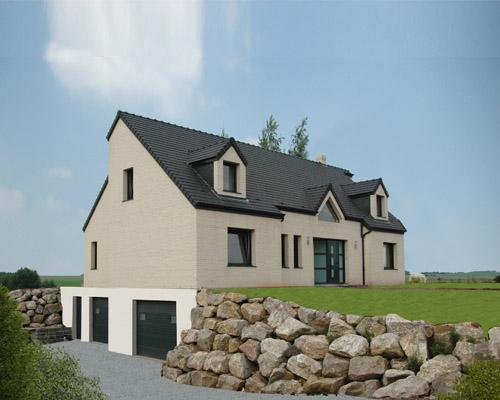 Maison neuve extensions r novations plan de maison for Maison neuve avec sous sol