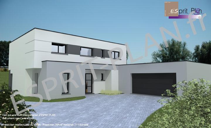 Rt extension maison maison rt maison toit plat et for Demolir une maison prix
