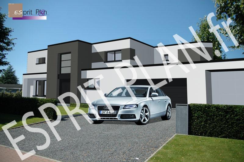 Esprit plan permis de construire extensions renovations for Maison cube design