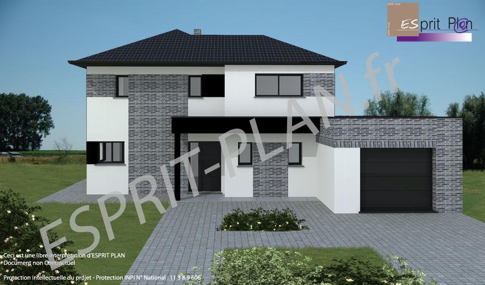 Avant projet maison extensions renovations sur arras lille et nord pas de calais modele for Maison prefabriquee nord pas de calais